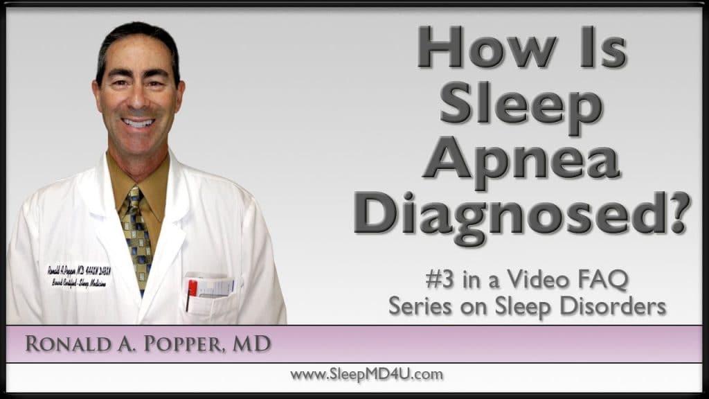 how is sleep apnea diagnosed
