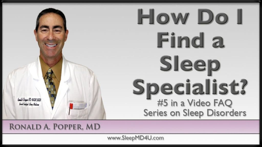 how to find a sleep specialist