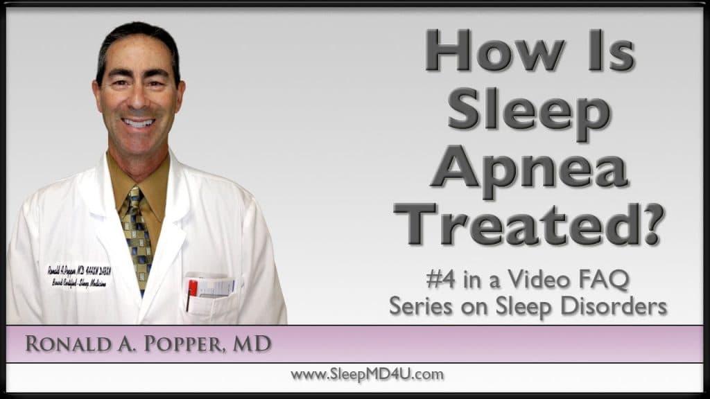 how is sleep apnea treated