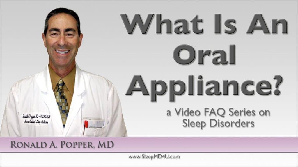 what is an oral appliance for sleep apnea