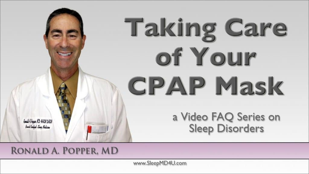 caring for your cpap mask