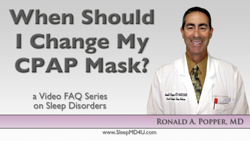 how often should I change my cpap mask