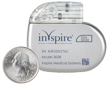inspire device size compared to a quarter
